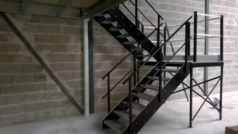 Treppe mit Absatz